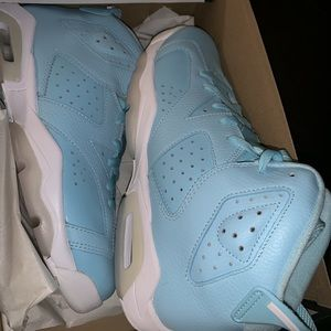 Powder blue Jordan 6s